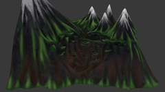 Badmist Mountain - Basemap painting