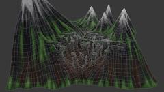 Badmist Mountain - Wireframe