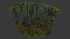 Wild Dragon Cliff Lair - Wireframe