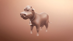 Cartoon Cow Sculpture